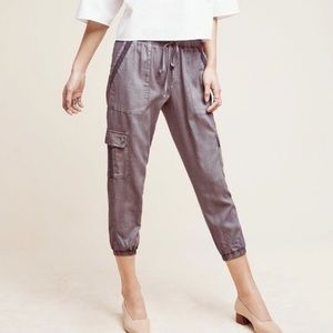 Anthro Cloth & Stone Trimmed Cargo Joggers